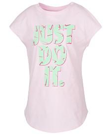Nike Little Girls Swooshfetti Just Do It Graphic Cotton T-Shirt