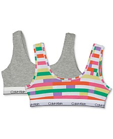Calvin Klein Little & Big Girls 2-Pk. Bralettes