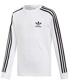 Adidas Big Boys Original 3-Stripes Long-Sleeve Shirt