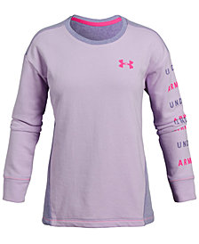 Under Armour Big Girls Rival Logo Sweatshirt