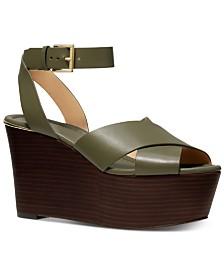 MICHAEL Michael Kors Abbott Platform Wedge Sandals