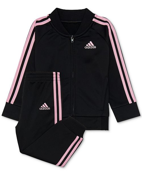 14ec9a8ed adidas Toddler Girls 2-Pc. Tricot Track Jacket   Pants Set - Sets ...
