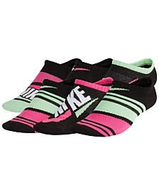 Nike Little & Big Girls 6-Pk. No-Show Striped Socks