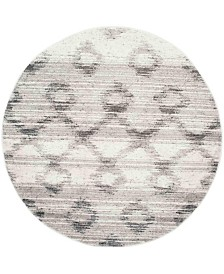 Safavieh Adirondack Silver and Charcoal 6' x 6' Round Area Rug