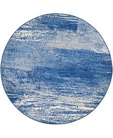 Safavieh Adirondack Silver and Blue 6' x 6' Round Area Rug