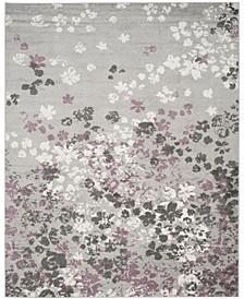 Adirondack Light Gray and Purple 8' x 10' Area Rug