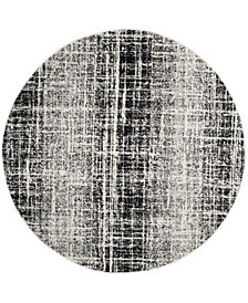 Safavieh Adirondack Ivory and Black 6' x 6' Round Area Rug