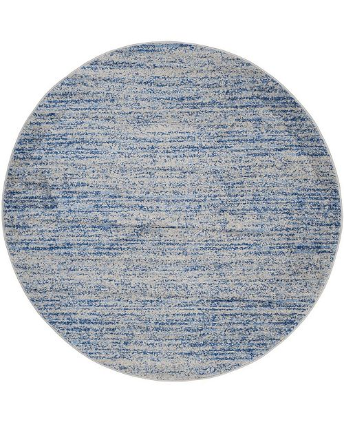Safavieh Adirondack Blue and Silver 6' x 6' Round Area Rug