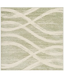 Adirondack Sage and Cream 6' x 6' Square Area Rug