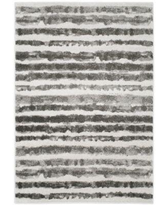 Adirondack Ivory and Charcoal 4' x 6' Area Rug