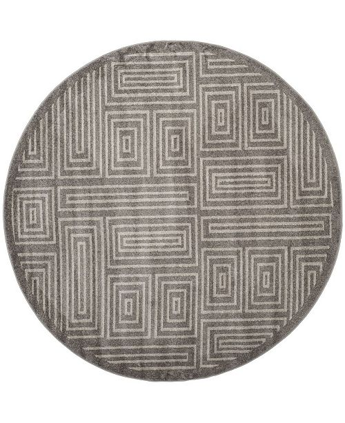 Safavieh Amherst Gray and Ivory 7' x 7' Round Area Rug