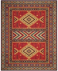 Safavieh Classic Vintage Red and Slate 8' x 10' Area Rug