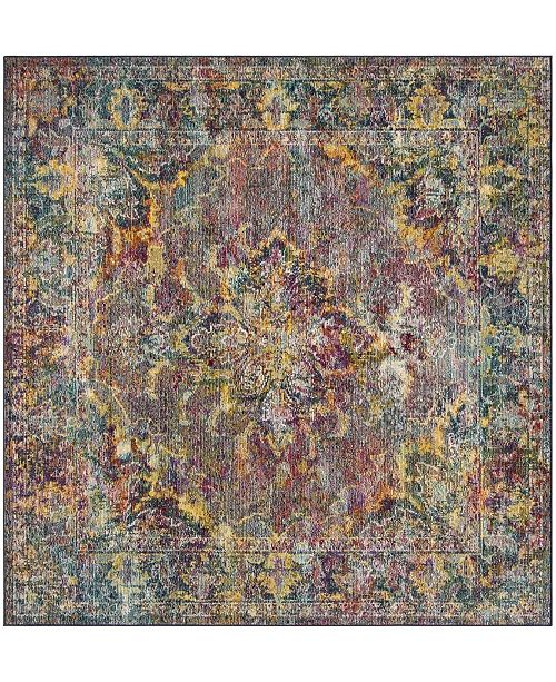 Safavieh Crystal Navy and Light Blue 7' x 7' Square Area Rug