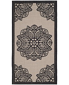 "Safavieh Courtyard Beige and Black 2' x 3'7"" Sisal Weave Area Rug"