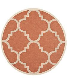 "Safavieh Courtyard Terracotta 5'3"" x 5'3"" Sisal Weave Round Area Rug"