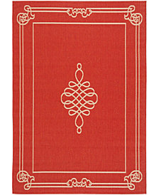 Safavieh Courtyard Red and Creme 8' x 11' Area Rug