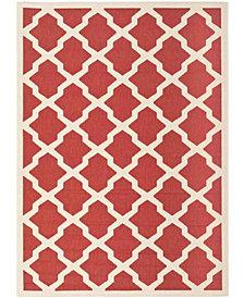"Safavieh Courtyard Red and Bone 5'3"" x 7'7"" Sisal Weave Area Rug"