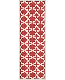 "Safavieh Courtyard Red and Bone 2'3"" x 6'7"" Sisal Weave Area Rug"