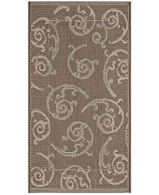 "Safavieh Courtyard Dark Beige and Beige 2' x 3'7"" Sisal Weave Area Rug"