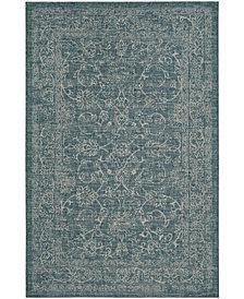 "Safavieh Courtyard Turquoise 5'3"" x 7'7"" Sisal Weave Area Rug"