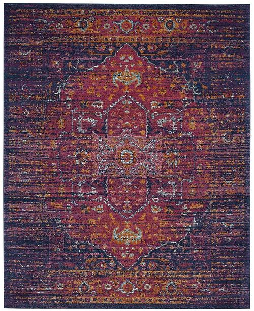 Safavieh Evoke Blue and Fuchsia 8' x 10' Area Rug