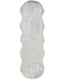 "Safavieh Faux Sheep Skin Light Grey 2'6"" X 8' Runner Area Rug"