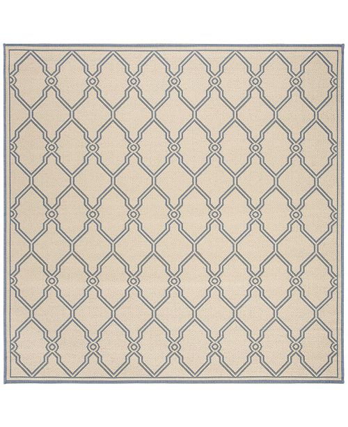 "Safavieh Linden Cream and Blue 6'7"" x 6'7"" Square Area Rug"
