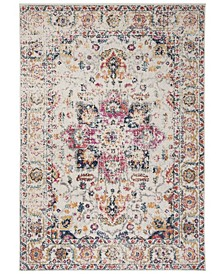 "Madison Fuchsia and Ivory 5'1"" x 7'6"" Area Rug"