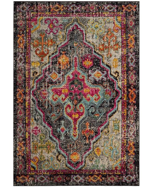 "Safavieh Monaco Gray and Fuchsia 5'1"" x 7'7"" Area Rug"