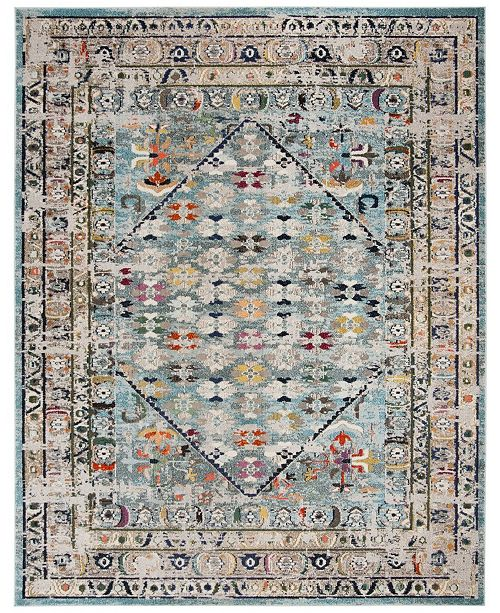 Safavieh Monaco Blue and Light Gray 8' x 10' Area Rug