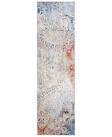 """Monray Red and Multi 2'3"""" x 8' Runner Area Rug"""