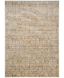 "Martha Stewart Collection Cream and Multi 8' x 11'2"" Area Rug, Created for Macy's"