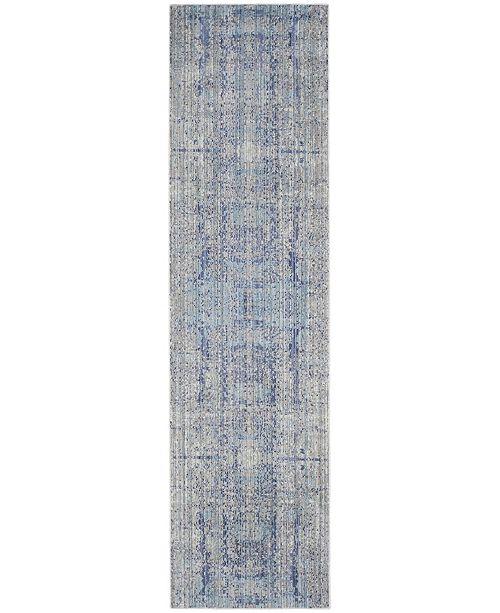 "Safavieh Mystique Light Blue and Multi 2'3"" x 8' Runner Area Rug"