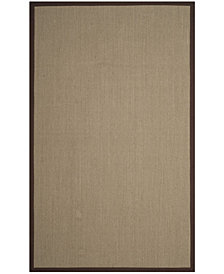 Safavieh Natural Fiber Sage and Brown 5' x 8' Sisal Weave Area Rug