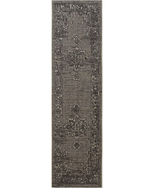 "Safavieh Palazzo Light Gray and Anthracite 2' x 7'3"" Area Rug"
