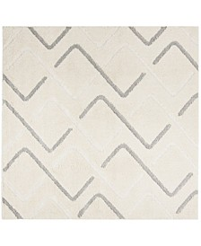 """Olympia Cream and Gray 6'7"""" x 6'7"""" Square Area Rug"""