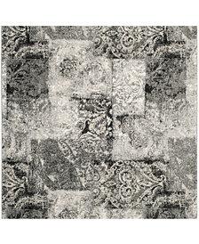 Safavieh Retro Cream and Gray 6' x 6' Square Area Rug