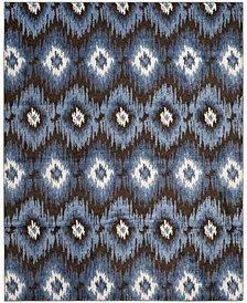 Safavieh Retro Dark Brown and Blue 8' x 10' Area Rug