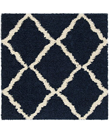 Safavieh Dallas Navy and Ivory 6' x 6' Square Area Rug