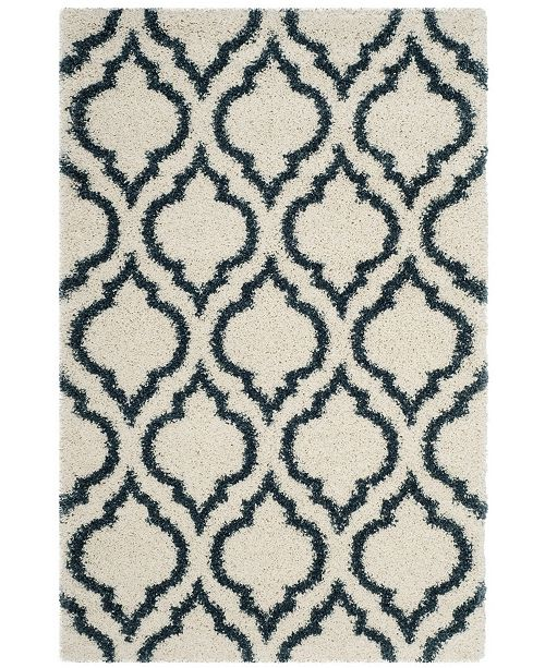 Safavieh Hudson Ivory and Slate Blue 4' x 6' Area Rug