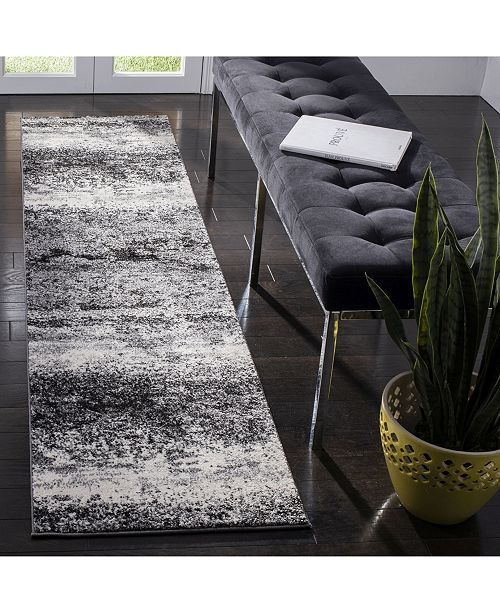 Safavieh Spirit Charcoal and Light Grey 2' x 8' Runner Area Rug