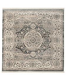 Safavieh Vintage Persian Dark Gray and Ivory 5' x 5' Square Area Rug