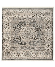 Safavieh Vintage Persian Dark Gray and Ivory 5' x 5' Square Area Rug