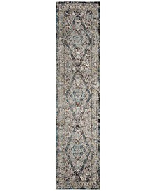 Aria Creme and Red 2' x 8' Runner Area Rug