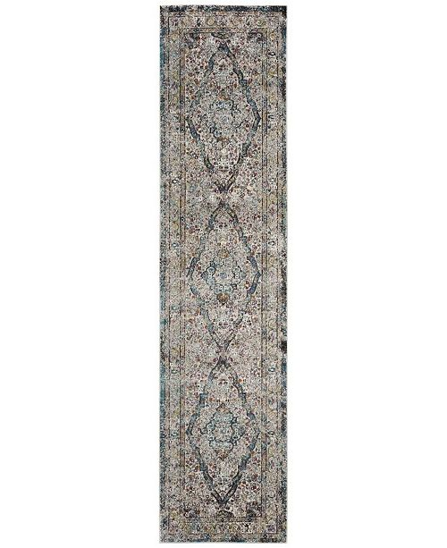 Safavieh Aria Creme and Red 2' x 8' Runner Area Rug