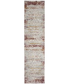 Safavieh Aria Red and Creme 2' x 8' Runner Area Rug