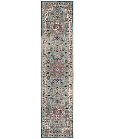 Aria Green and Creme 2' x 8' Runner Area Rug