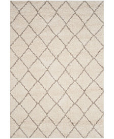 "Safavieh Arizona Shag Ivory and Beige 5'1"" x 7'6"" Area Rug"