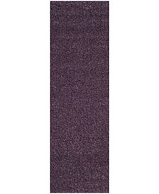 "Safavieh Arizona Shag Purple 2'3"" x 8' Sisal Weave Area Rug"