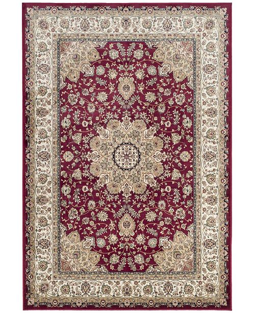 """Safavieh Atlas Red and Ivory 5'3"""" x 7'7"""" Area Rug"""